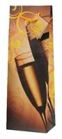 Obrázok pre výrobcu Papierová taška na 1 fľašu - s motívom 4